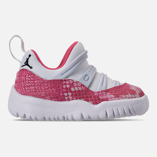 8789a9942baf Right view of Girls  Toddler Air Jordan Retro 11 Little Flex Basketball  Shoes in White
