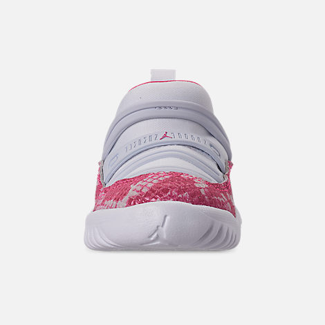 quality design 0eb66 4609b Front view of Girls  Toddler Air Jordan Retro 11 Little Flex Basketball  Shoes in White
