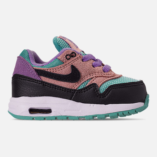 90408cbfc Right view of Kids' Toddler Nike Air Max 1 SE Casual Shoes in Black/