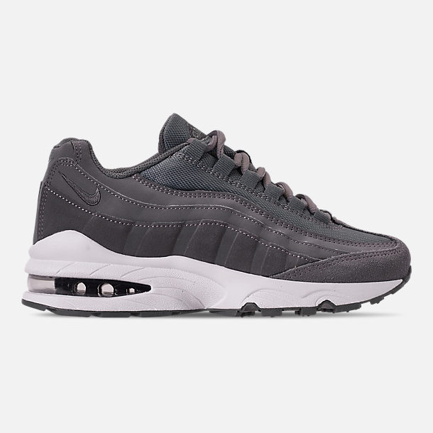 Right view of Boys' Big Kids' Nike Air Max 95 PE Casual Shoes in Cool Grey/Dark Grey/Pale Ivory