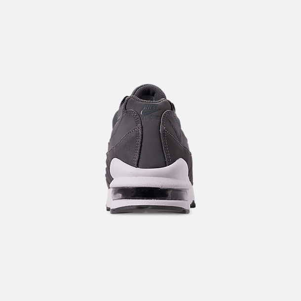 Back view of Boys' Big Kids' Nike Air Max 95 PE Casual Shoes in Cool Grey/Dark Grey/Pale Ivory