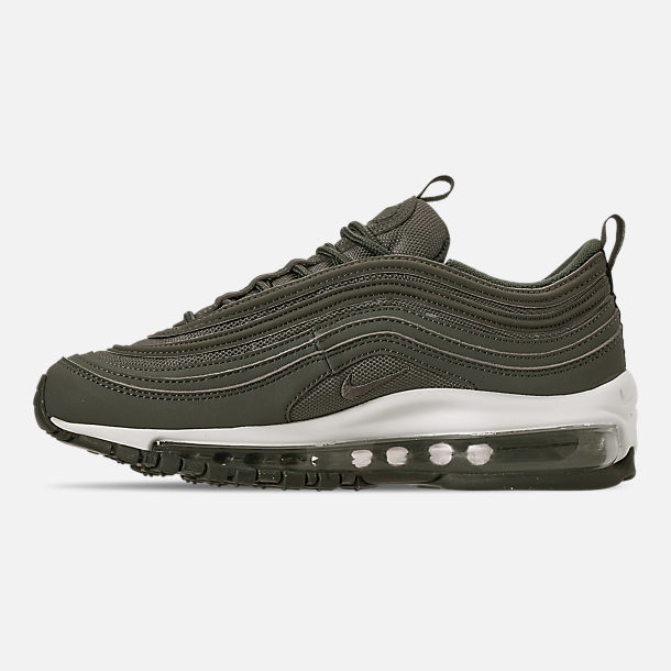 Left view of Boys' Big Kids' Nike Air Max 97 PE Casual Shoes in Mineral Spruce/Pale Ivory