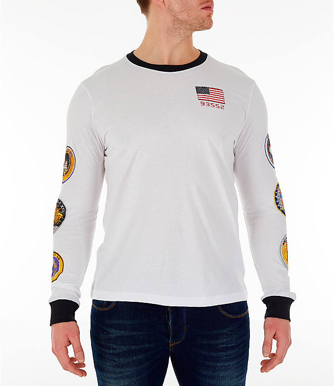 Front view of Men's Nike PG 3 x NASA Long-Sleeve T-Shirt in White