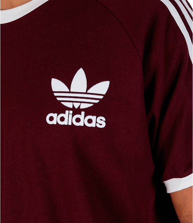 Detail 1 view of Men's adidas Originals CLFN T-Shirt in Maroon