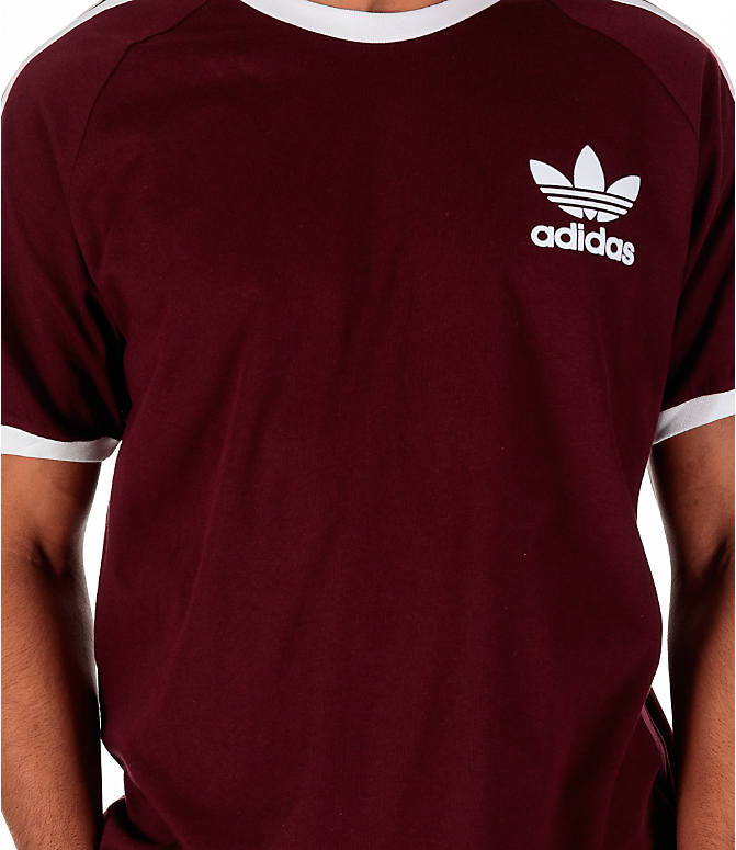 Detail 2 view of Men's adidas Originals CLFN T-Shirt in Maroon