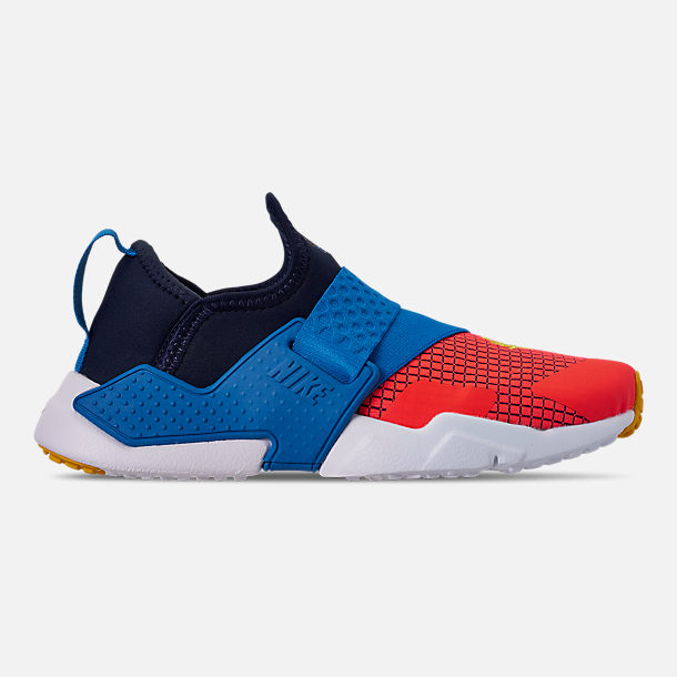 Right view of Boys' Big Kids' Nike Huarache Extreme Now Casual Shoes in Obsidian/Amarillo/Photo Blue