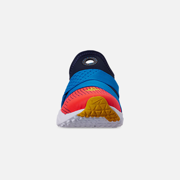 Front view of Boys' Big Kids' Nike Huarache Extreme Now Casual Shoes in Obsidian/Amarillo/Photo Blue