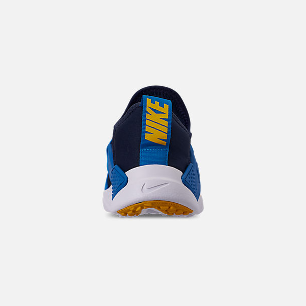 Back view of Boys' Big Kids' Nike Huarache Extreme Now Casual Shoes in Obsidian/Amarillo/Photo Blue
