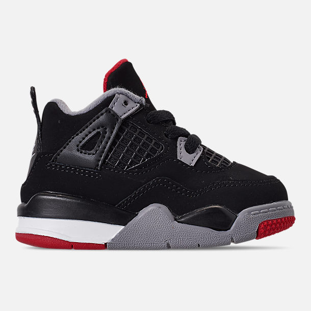 a36a3850cf11c5 Right view of Kids  Toddler Air Jordan Retro 4 Basketball Shoes in  Black Fire
