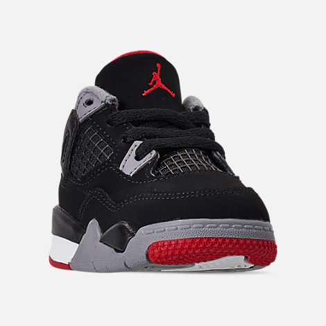 ce44a0d844c8 Three Quarter view of Kids  Toddler Air Jordan Retro 4 Basketball Shoes in  Black