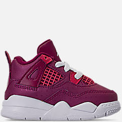 Girls' Toddler Air Jordan Retro 4 Basketball Shoes