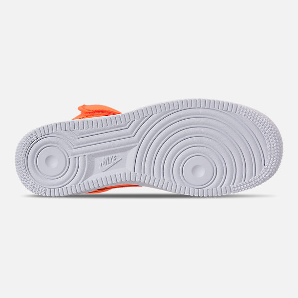 Bottom view of Women's Nike Air Force 1 High LX Leather Casual Shoes in Total Orange/Total Orange/White