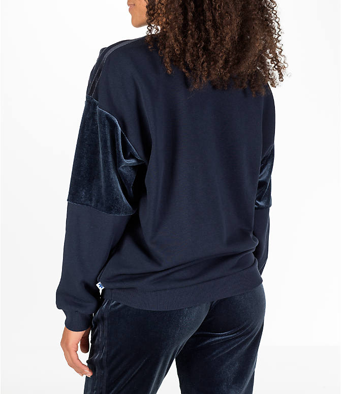 Back Left view of Women's adidas Originals Flock Sweater in Legend Ink