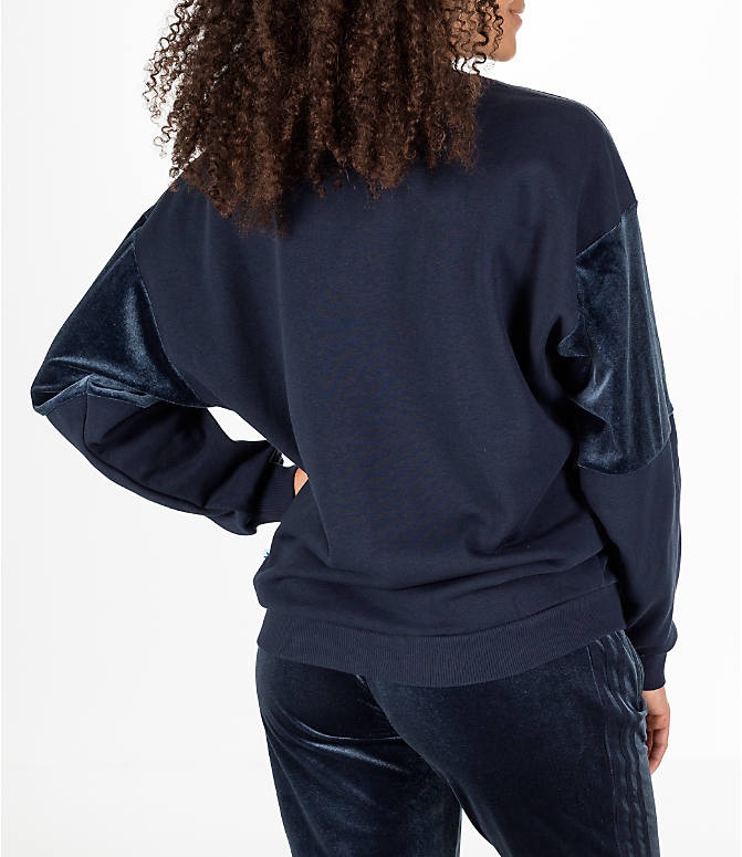 Back Right view of Women's adidas Originals Flock Sweater in Legend Ink