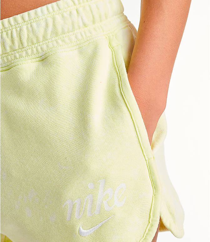 Detail 1 view of Women's Nike Sportswear Shorts in Luminous Green/Summit White