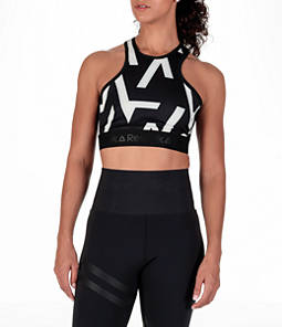 Women's Reebok Studio Cropped High Neck Geometric Print Top Product Image