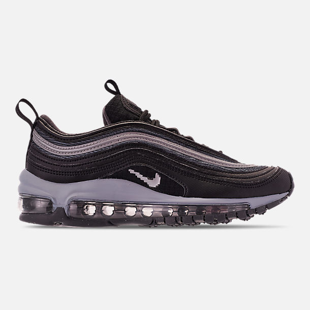 Right view of Boys' Big Kids' Nike Air Max 97 Y2K Casual Shoes in Black/Metallic Silver/Dark Grey