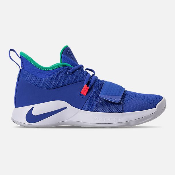 hot sale online f6bf4 38d16 Right view of Men s Nike PG 2.5 Basketball Shoes in Racer Blue White