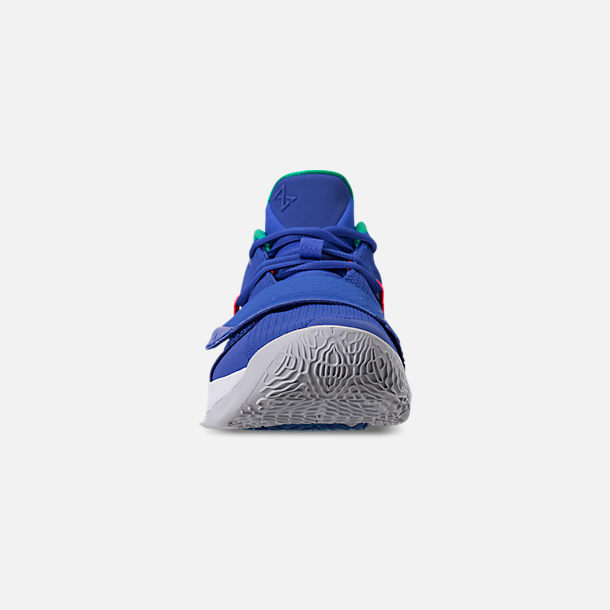 Front view of Men's Nike PG 2.5 Basketball Shoes in Racer Blue/White