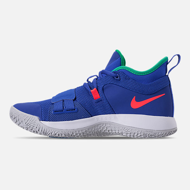 Left view of Men's Nike PG 2.5 Basketball Shoes in Racer Blue/White
