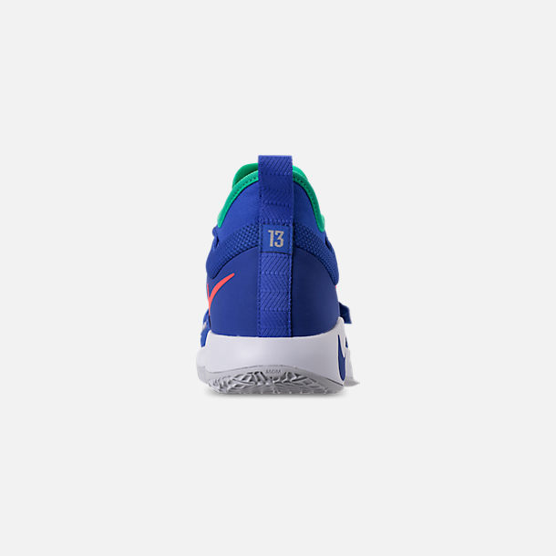 Back view of Men's Nike PG 2.5 Basketball Shoes in Racer Blue/White