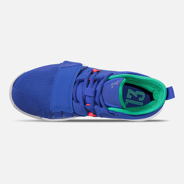 Top view of Men's Nike PG 2.5 Basketball Shoes in Racer Blue/White