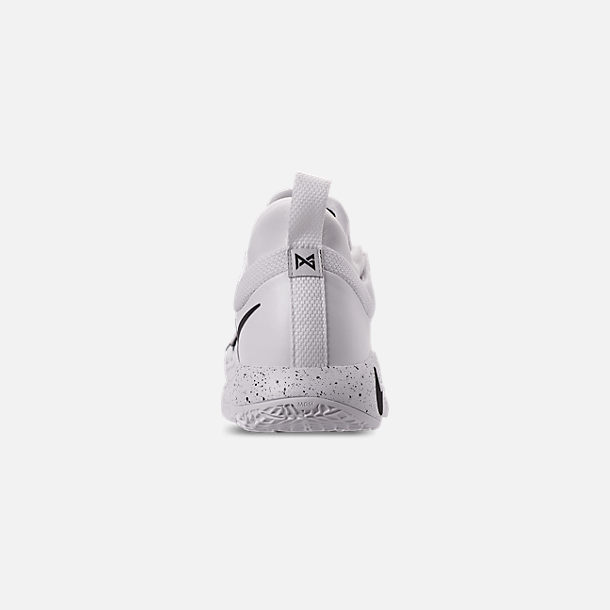 Back view of Men's Nike PG 2.5 TB Basketball Shoes in White/Black