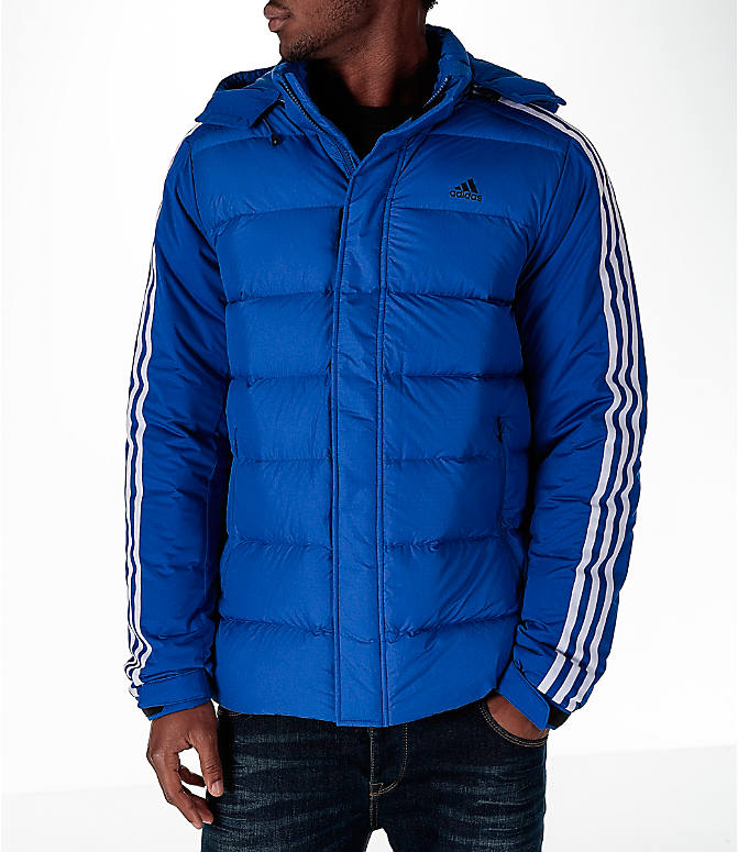 Front view of Men's adidas Itavic 3-Stripe Jacket in Royal/White