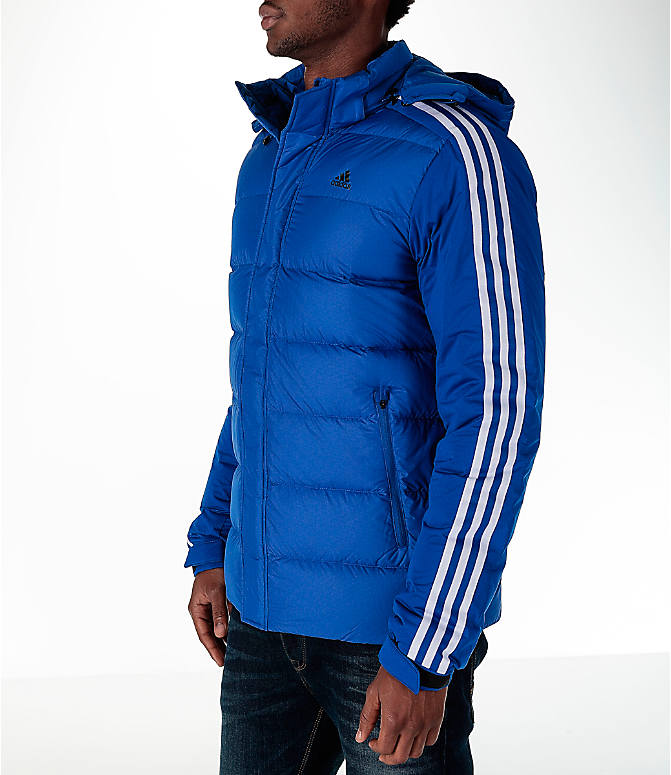Front Three Quarter view of Men's adidas Itavic 3-Stripe Jacket in Royal/White
