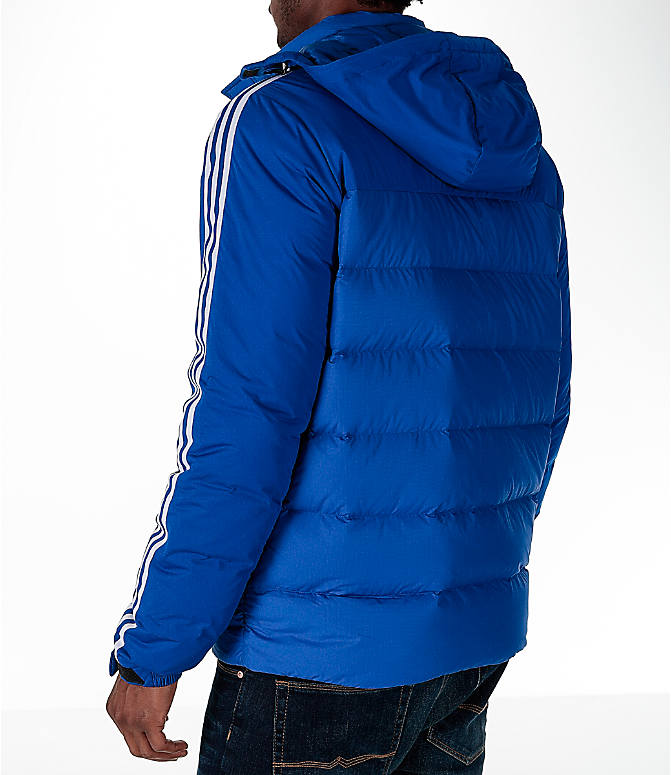 Back Left view of Men's adidas Itavic 3-Stripe Jacket in Royal/White