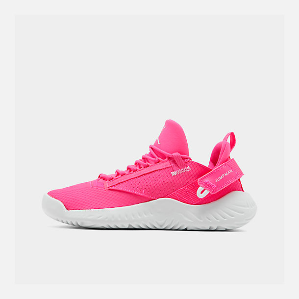 Right view of Girls' Big Kids' Jordan Proto 23 Training Shoes in Hyper Pink/White