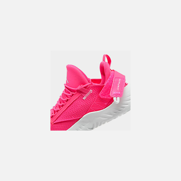 Front view of Girls' Big Kids' Jordan Proto 23 Training Shoes in Hyper Pink/White