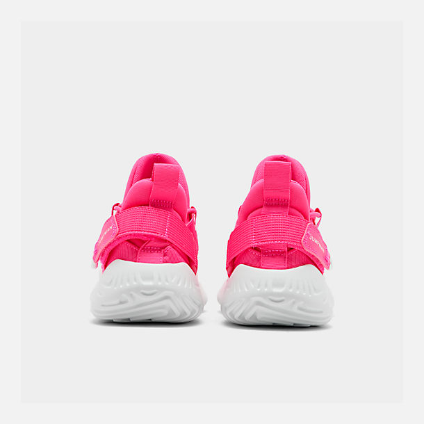 Left view of Girls' Big Kids' Jordan Proto 23 Training Shoes in Hyper Pink/White