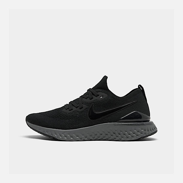 cd67d5ecfad Right view of Women s Nike Epic React Flyknit 2 Running Shoes in  Black Black