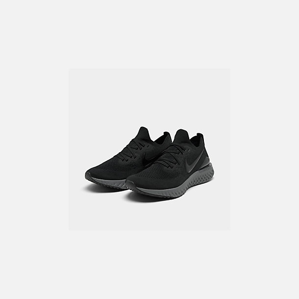 366e00417f16b Three Quarter view of Women s Nike Epic React Flyknit 2 Running Shoes in  Black Black