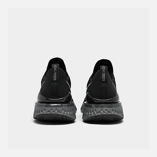 9539ec3e9a7c Left view of Women s Nike Epic React Flyknit 2 Running Shoes in Black Black