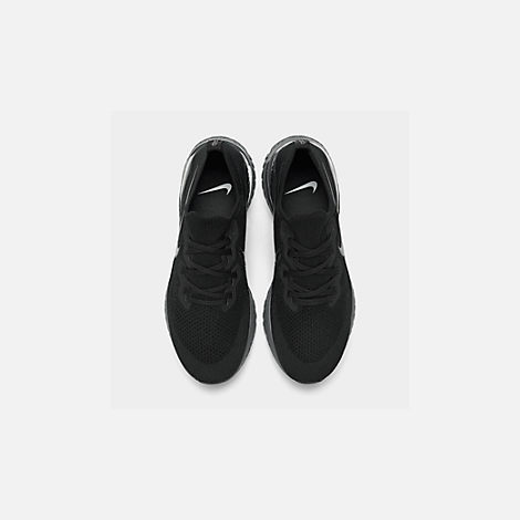 7f77d8b3bb79 Back view of Women s Nike Epic React Flyknit 2 Running Shoes in Black Black