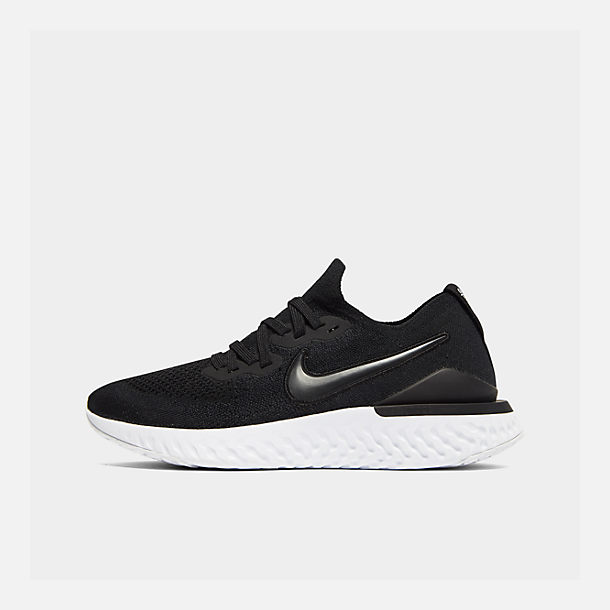 Right view of Women's Nike Epic React Flyknit 2 Running Shoes in Black/Black/Anthracite/Gunsmoke/White