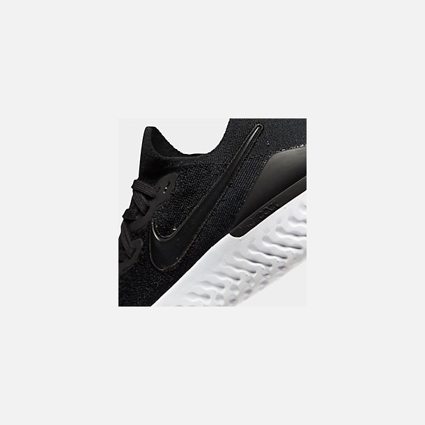 Front view of Women's Nike Epic React Flyknit 2 Running Shoes in Black/Black/Anthracite/Gunsmoke/White