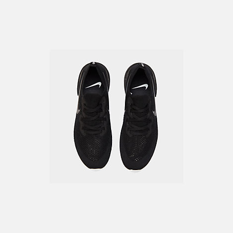 Back view of Women's Nike Epic React Flyknit 2 Running Shoes in Black/Black/Anthracite/Gunsmoke/White