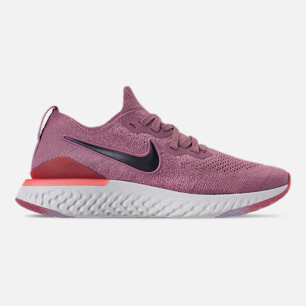 Right view of Women's Nike Epic React Flyknit 2 Running Shoes in Plum Dust/Ember Glow