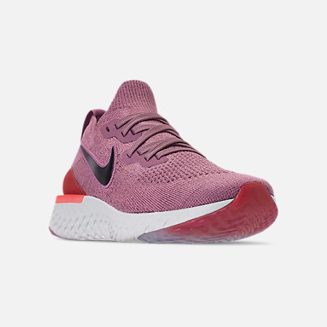 e2d83e88b3 Three Quarter view of Women's Nike Epic React Flyknit 2 Running Shoes in  Plum Dust/