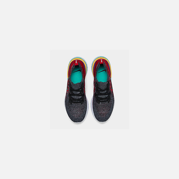 bee9207809d7 Back view of Men s Nike Epic React Flyknit 2 Running Shoes in Black Black