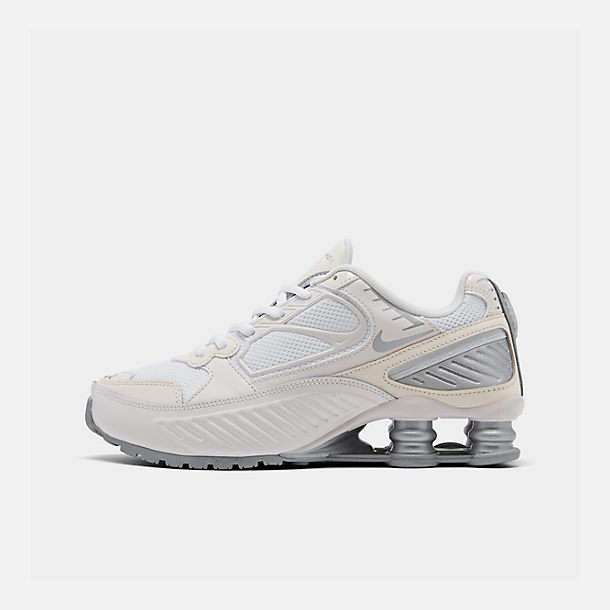 Right view of Women's Nike Shox Enigma Casual Shoes in Phantom/Metallic Silver/White/Pale
