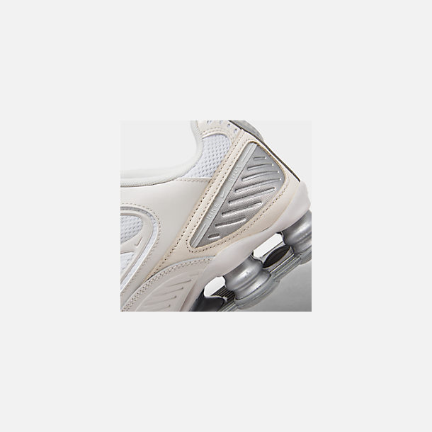 Front view of Women's Nike Shox Enigma Casual Shoes in Phantom/Metallic Silver/White/Pale