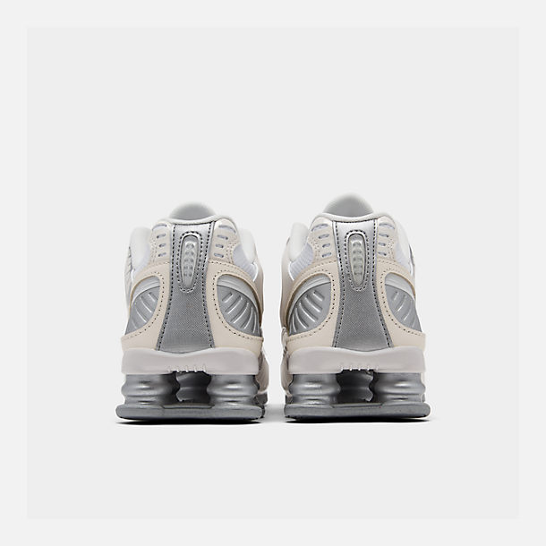 Left view of Women's Nike Shox Enigma Casual Shoes in Phantom/Metallic Silver/White/Pale