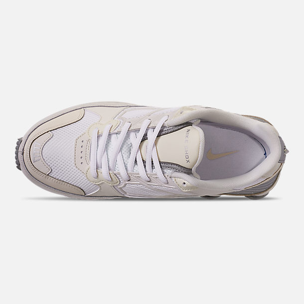 Top view of Women's Nike Shox Enigma Casual Shoes in Phantom/Metallic Silver/White/Pale