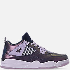 Girls' Little Kids' Air Jordan Retro 4 SE Basketball Shoes