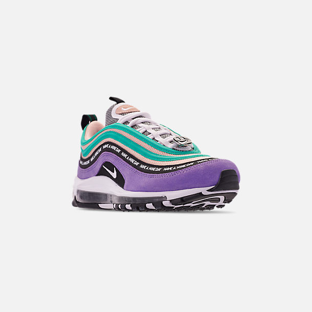 size 40 e6a5d a4d27 Three Quarter view of Men s Nike Air Max 97 ND Casual Shoes in Space Purple
