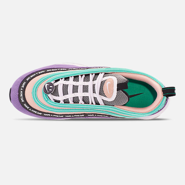 9fc4c0f4ea Top view of Men's Nike Air Max 97 ND Casual Shoes in Space Purple/White